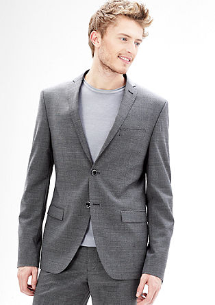Slim: mottled new wool jacket from s.Oliver