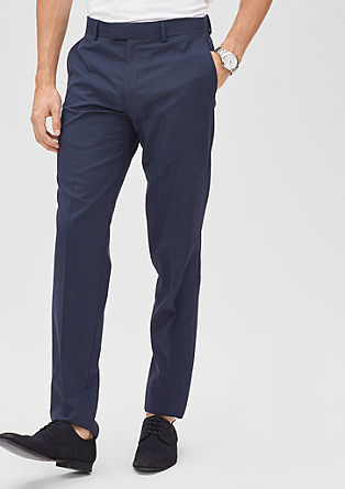Slim: new merino wool trousers from s.Oliver