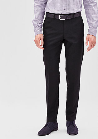 Slim: New wool party trousers from s.Oliver