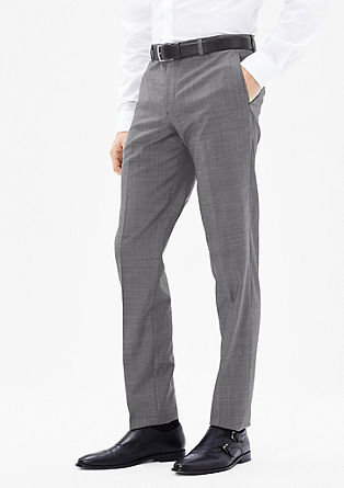 Slim: new wool suit trousers from s.Oliver