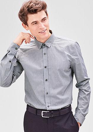Slim: overhemd met een fijn motief