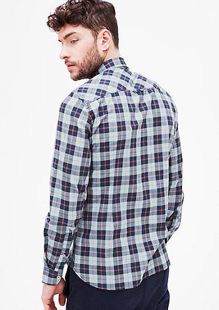 Slim: overhemd met ruiten