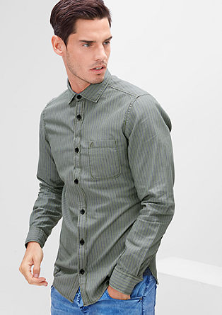 Slim: Oxford-Hemd mit Chambray