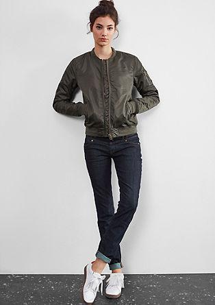 Slim: Ozke temne jeans hlače