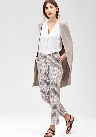 Slim: Patterned business trousers from s.Oliver