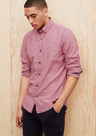 Slim: patterned button-down shirt from s.Oliver