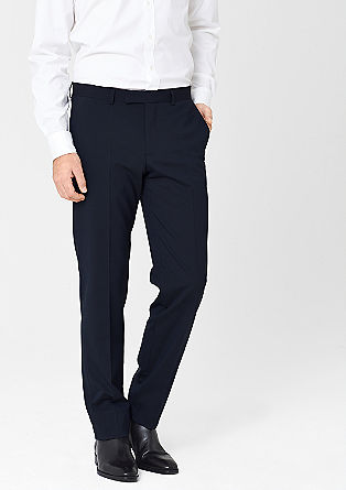 Slim: Pinstripe business trousers from s.Oliver