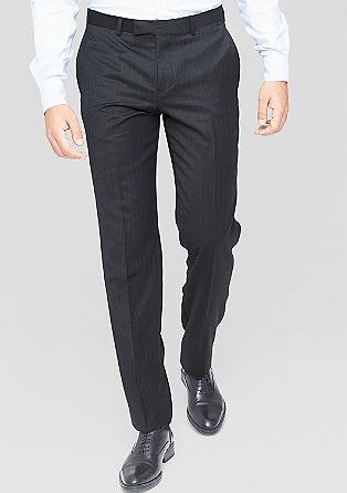 Slim: poslovne hlače s tankimi črtami