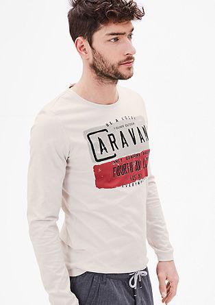 Slim: Potiskana majica z dolgimi rokavi