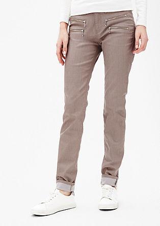 Slim: raztegljive hlače z okrasnimi zadrgami