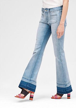 Slim: Raztegljive jeans hlače na zvon