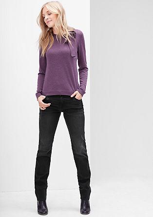 Slim: raztegljive jeans hlače s kovicami