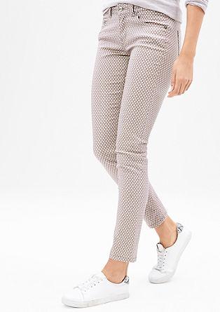 Slim: raztegljive jeans hlače z vzorcem