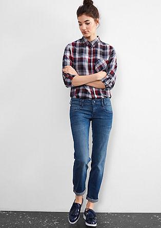 Slim: raztegljive modre jeans hlače