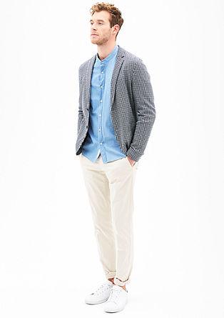 Slim: Sakko mit Jacquard-Muster