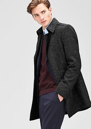Slim: salt & pepper wool coat from s.Oliver