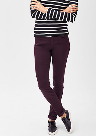 Slim: Satijnen stretchbroek