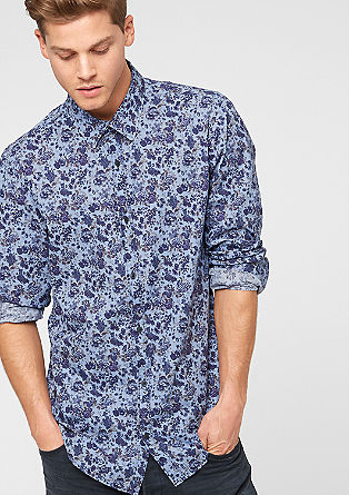 Slim: shirt with a floral pattern from s.Oliver