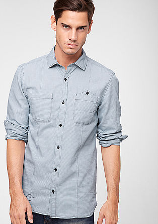 Slim: shirt with a houndstooth pattern from s.Oliver