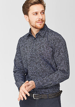 Slim: shirt with a paisley pattern from s.Oliver