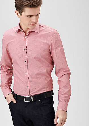 Slim: Shirt with a textured pattern from s.Oliver