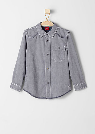 Slim: shirt with a woven texture from s.Oliver