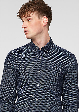 Slim: Shirt with an all-over pattern from s.Oliver