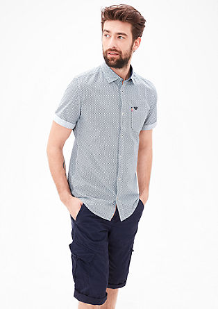 Slim: shirt with an all-over print from s.Oliver