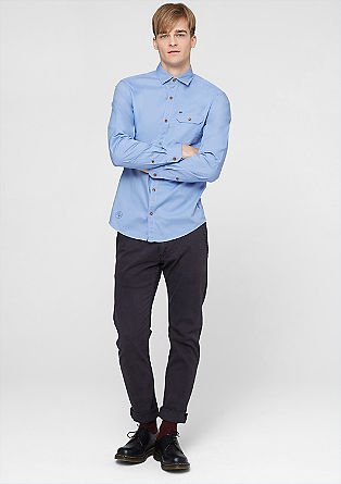Slim: shirt with contrasting buttons from s.Oliver