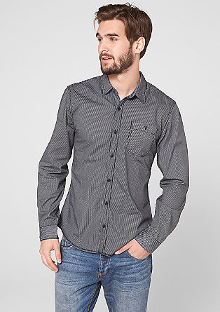 Slim: shirt with narrow stripes from s.Oliver