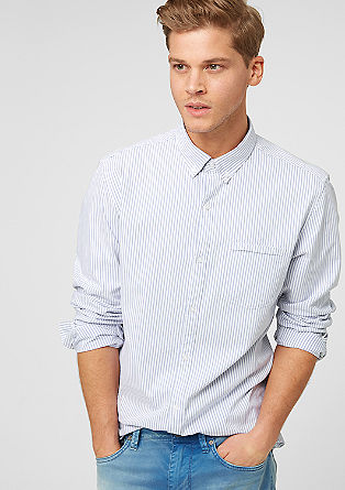 Slim: shirt with stripes from s.Oliver