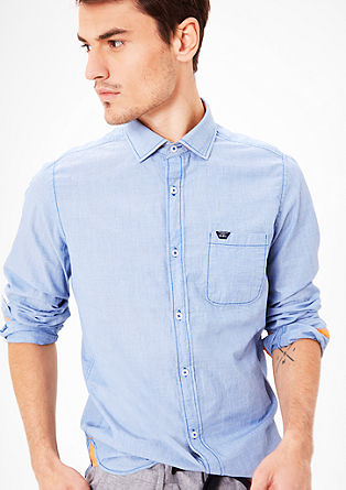 Slim: shirt with tonal stitching from s.Oliver
