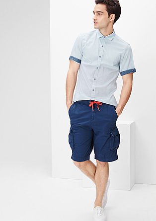 Slim: Short sleeve shirt with stripes from s.Oliver