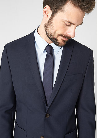 Slim: single-breasted jacket with a woven texture from s.Oliver