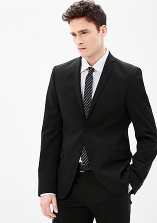 Slim: sports jacket with a narrow lapel from s.Oliver