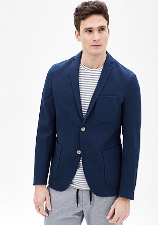 Slim: sports jacket with a textured pattern from s.Oliver