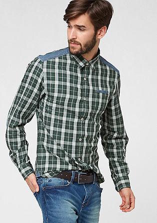 Slim: srajca z elementi iz denima
