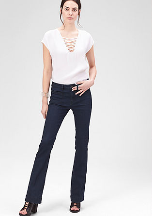 Slim: stretch flared jeans from s.Oliver