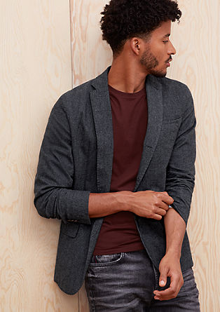 Slim: stretch herringbone jacket from s.Oliver
