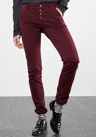 Slim: Stretch-Hose mit Struktur