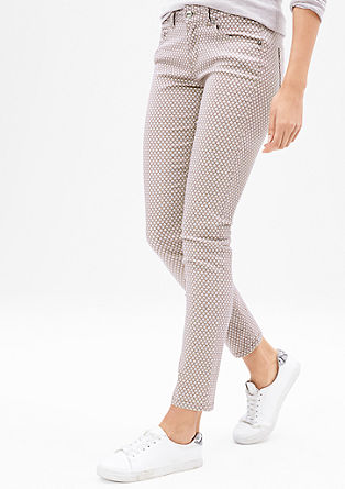 Slim: Stretch-Jeans mit Muster