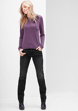 Slim: Stretch jeans with studs from s.Oliver