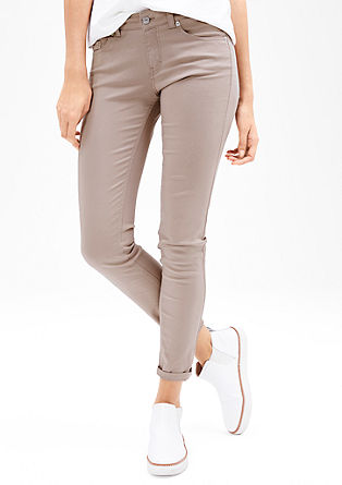 Slim: stretch trousers made of satin from s.Oliver