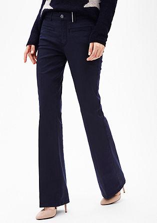 Slim: stretchy bootcut broek