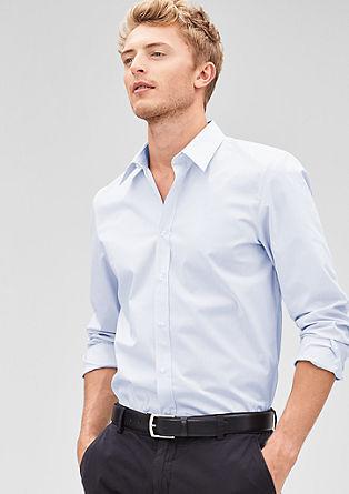 Slim: Strtchy poplin shirt from s.Oliver