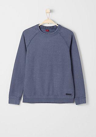 Slim: Struktur-Sweatshirt
