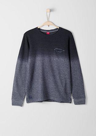 Slim: Sweatshirt mit Farbverlauf