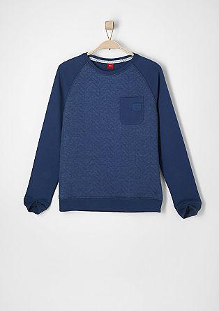 Slim: Sweatshirt mit Struktur