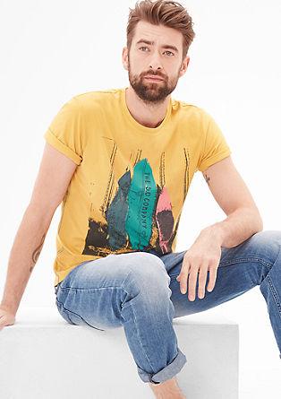Slim: T-Shirt mit Surfer-Print