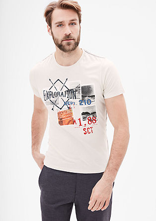 Slim: T-shirt with a collage print from s.Oliver